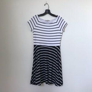 ANN TAYLOR LOFT Striped Flare Dress NWT